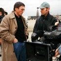 Producer Ulrich Lenze and Director Robert Stone on location in Berlin