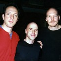 Joel Harrison, Joey Baron, Scott Colly during production of score for 'American Babylon'