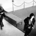 Donald DeFreeze and Patty Hearst leaving Hibernia Bank in San Francisco April 15, 1974