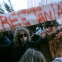 Demonstrators outside San Francisco Courthouse September 1975
