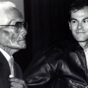 Bekini Cheiftan Kilon Bauno with Robert Stone at the San Francisco International Film Festival 1988